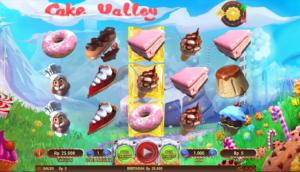 If, like me, you have a sweet tooth, then there is no doubting where you need to head. Cake Valley is an outstanding slot, which brings out the Willy Wonka factor (for all you Roald Dahl fans) which is all based on sweet, delicious things. A 243-ways to win slot with 5 reels and a massive bet range, it is beautifully presented and has outstanding play value and hugely enjoyable game play, with the best returns coming in the games main bonus feature, the Free Spins bonus.
